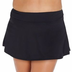 NWT Ambrielle Curve Black Swimsuit Skirt Bottom 2X